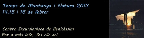 temps de muntanya i natura 2013