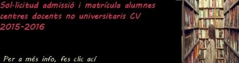 admissió i matricula